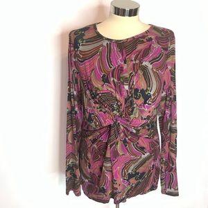 FINALPRICE Trina Turk knot front knit top